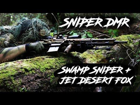 Sniper DMR Gameplay / Jet Desert Fox ( Elite Force Airsoft Day )