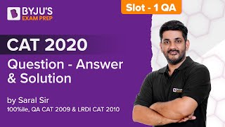 CAT 2020 QA Answer Key (Slot 1) | CAT 2020 Detailed Discussion | Part 1 | Gradeup