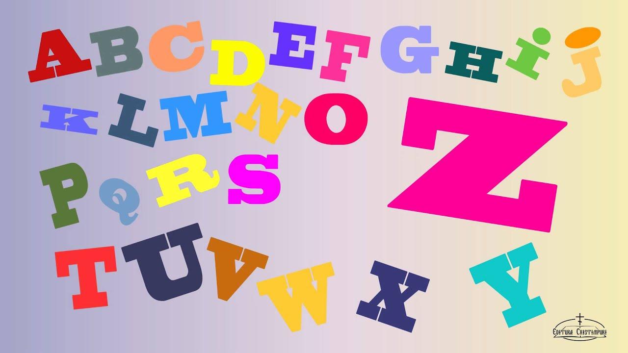 Cantecul Alfabetului Literele Cantece Pentru Copii Video Youtube