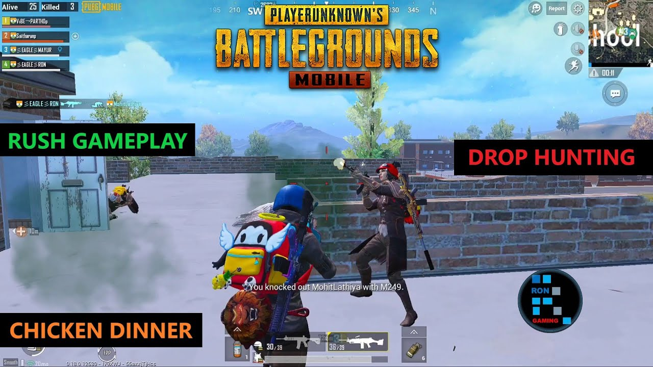 PUBG MOBILE | DROP HUNTING & RUSH GAMEPLAY CHICKEN DINNER