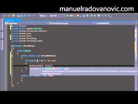 C# multithreading by microsoft award mvp c# c# tutorial c#.