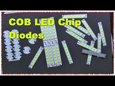 COB LED Chip Diodes светодиодные модули для освещения обзор тест