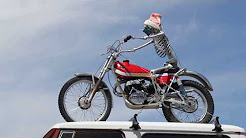 Skeleton on a motorcycle in Norwood, Colorado