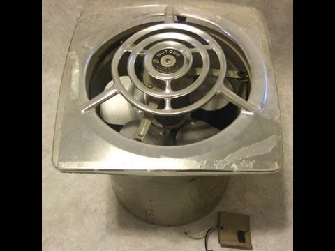 Bathroom Vent Fan >> Dumpster Find! Vintage 1940s Nutone Kitchen Exhaust Fan Demo - YouTube