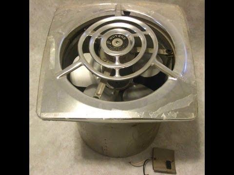dumpster find vintage 1940s nutone kitchen exhaust fan demo