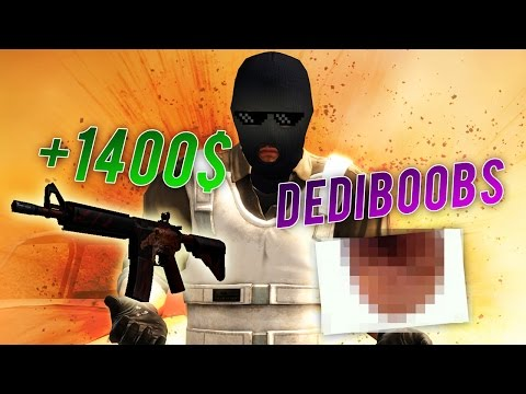 +1400$ ET UNE DEDIBOOBS ( CS GO ZAPPING )