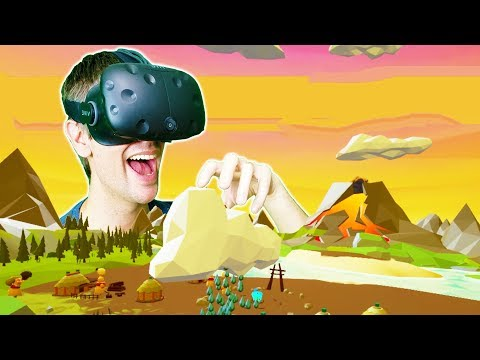 BECOMING THE GOD OF A SECRET ISLAND TRIBE IN VR! - Super Island God VR HTC VIVE Gameplay
