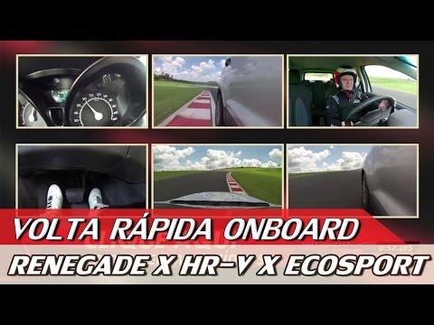 JEEP RENEGADE X HR-V X FORD ECOSPORT - VOLTA RÁPIDA ONBOARD COM RUBENS BARRICHELLO #59 | ACELERADOS