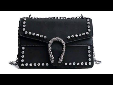 7593fbd7a Gucci Dionysus Inspired Crystal Black Shoulder Handbag Reveal 🐯👜
