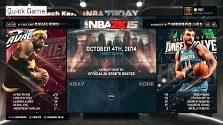 PS4 NBA 2K15 HD Gameplay!: Andrew Wiggins vs. Lebron James!