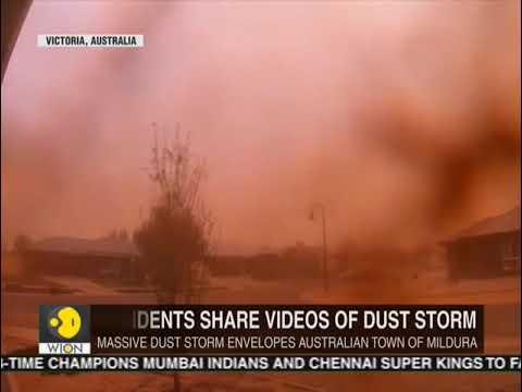 Dust storm plunges Australian city in brief darkness