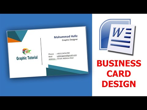 Making business Cards in Microsoft Word | Business Card Design thumbnail