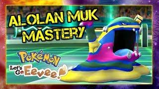 Pokemon Lets Go Pikachu and Eevee Singles Wifi Battle - Alolan Muk Mastery