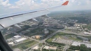 aeroflot a330 approach and landing in washington dc dulles airport iad