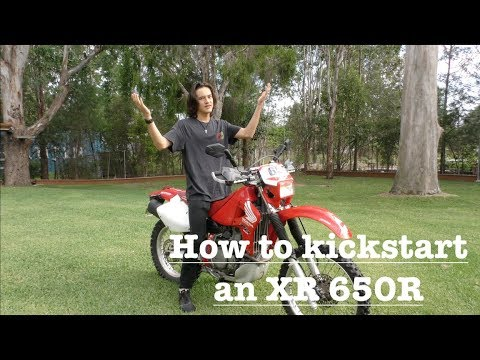 how to Kick Start an XR650R !! very easy