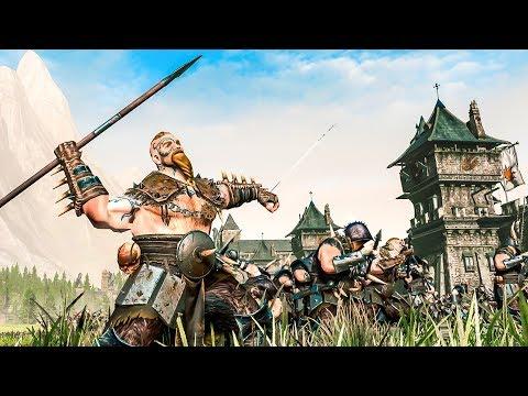 RAIDERS OF THE FAR NORTH - Norsca vs Bretonnia - Total War WARHAMMER 2 Cinematic Battle Machinima |