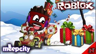 ROBLOX Indonesia #71 Meepcity   Santa Claus to buy Kart racing