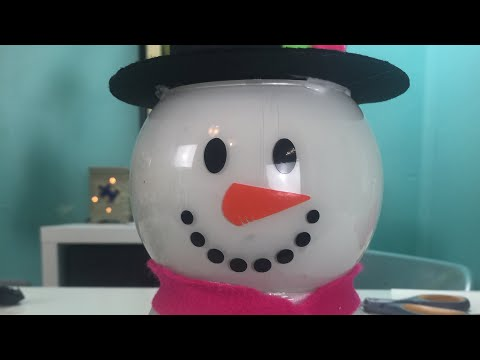 Dollar Tree Snowman How To