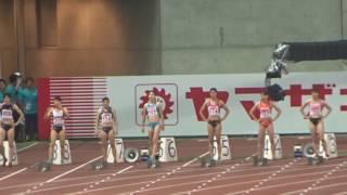 女子100m決勝・結果≫ 1着:市川 華菜(ミズノ) 11秒52 2着:福島 千里...