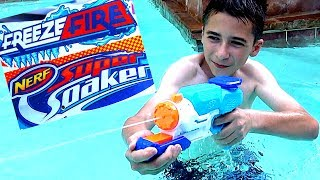 Nerf Super Soaker Freeezefire Blaster with Robert-Andre