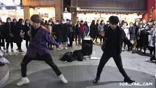 180220 디오비 DOB 효진&태영 홍대공연 / 방탄소년단(BTS) - MIC drop