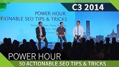 C3 2014 - 50 Actionable SEO Tips & Tricks