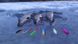 Ловля щуки на РАТТЛИНЫ и БАЛАНСИР со льда Зимняя рыбалка 2021