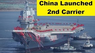 china launched second aircraft carrier type 001a domestically built