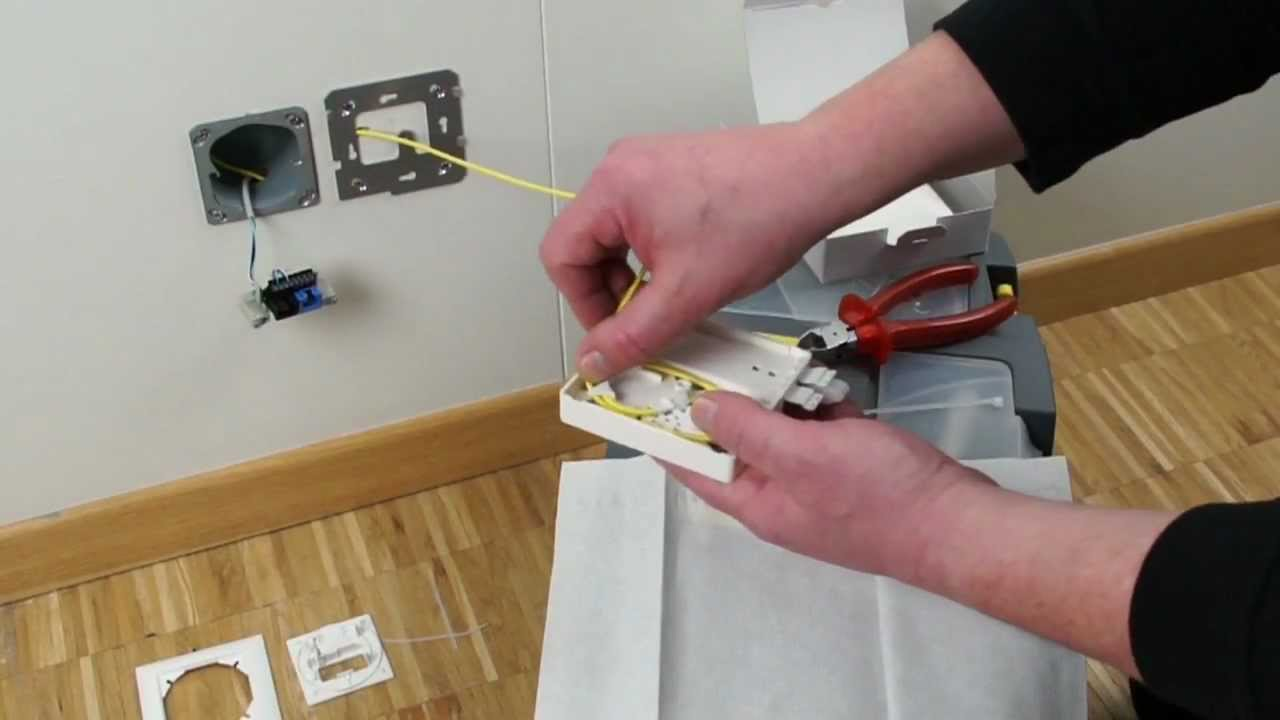 Dsl Wiring Colors Fo Outlet Optical Termination Outlets Youtube