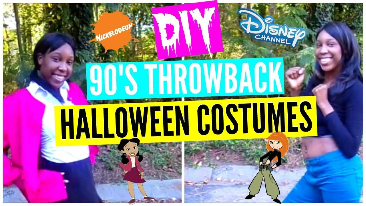 DIY Disney throwback Halloween Costumes - YouTube