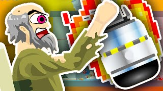 GRANDPA'S CRAZY NUKE BOMB!! | Happy Wheels