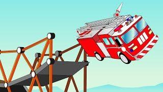 Строим МОСТ для ПОЖАРНОЙ МАШИНКИ игровое Видео для Детей Build a Bridge Построй Мост