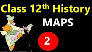class 12th history chapter 2 King Farmers And Towns  MAP I  RAJA KISAN AUR NAGAR  important map
