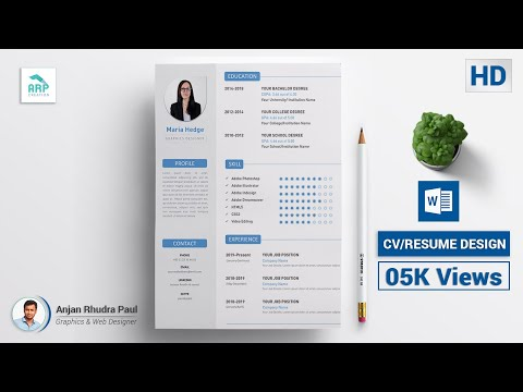 How To Create A CV/RESUME Template In Microsoft Word Docx : ✪ MS Word Tutorial ✪