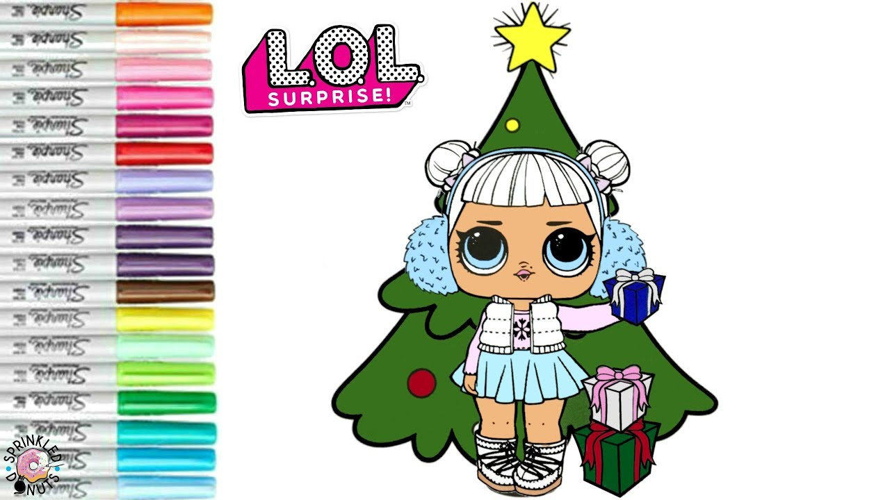Coloring Christmas LOL Surprise Dolls Snow Angel Holiday ...