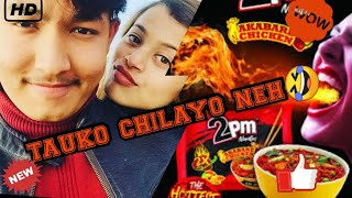 HOT SPICY NOODLES CHALLENGES FROM SARISUR15. SURAJ &SARISHMA HUSBAND & WIFE BY TIKTOK COUPLE