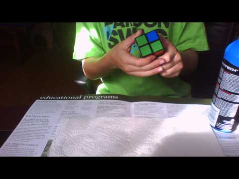 How To Lubricate  A 2x2 Rubiks Cube!