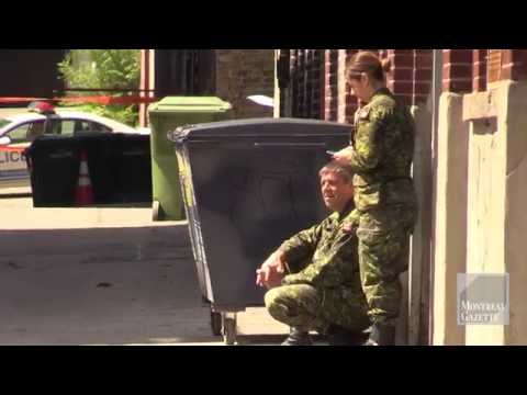 Bomb scare outside military building in Montreal