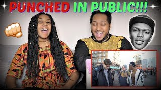 KSI 'GETTING PUNCHED IN PUBLIC!!!' REACTION!!