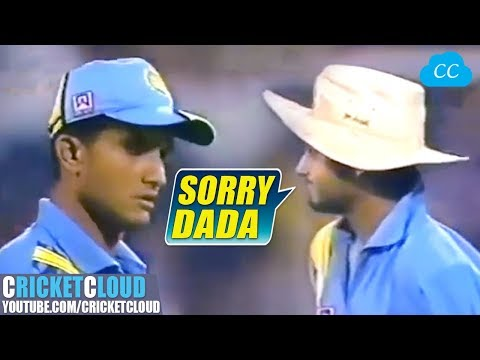 Sourav Gaguly Dada Super Angry on Young Harbhajan Singh | Unlucky day for Star Bhajji !!