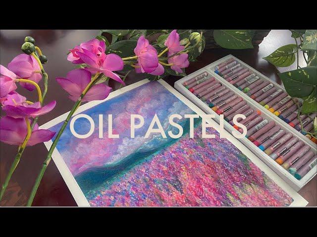 [VIDEO] 🌷 Oil Pastel Flower Field