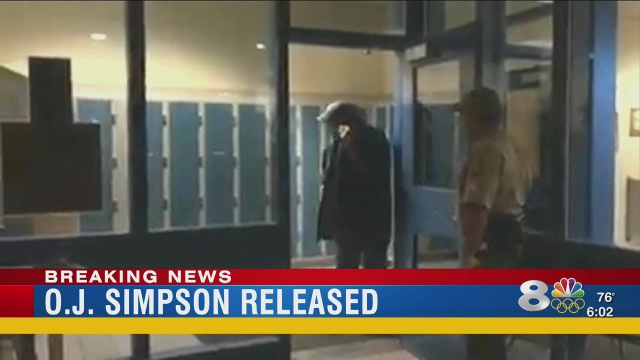 o j simpson released from prison after 9 years   youtube