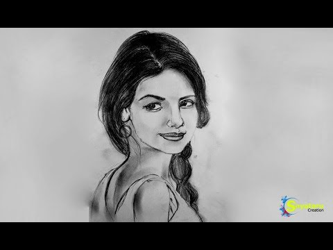 How To Draw A Portrait With Pencil Step Beautiful Girl Sketches Drawing