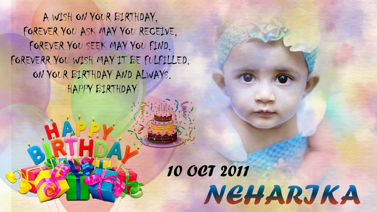 Design Birthday Card In Photoshop Cc Invitation Card Youtube