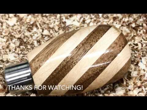 Wood Turning Slant Shift Knob.