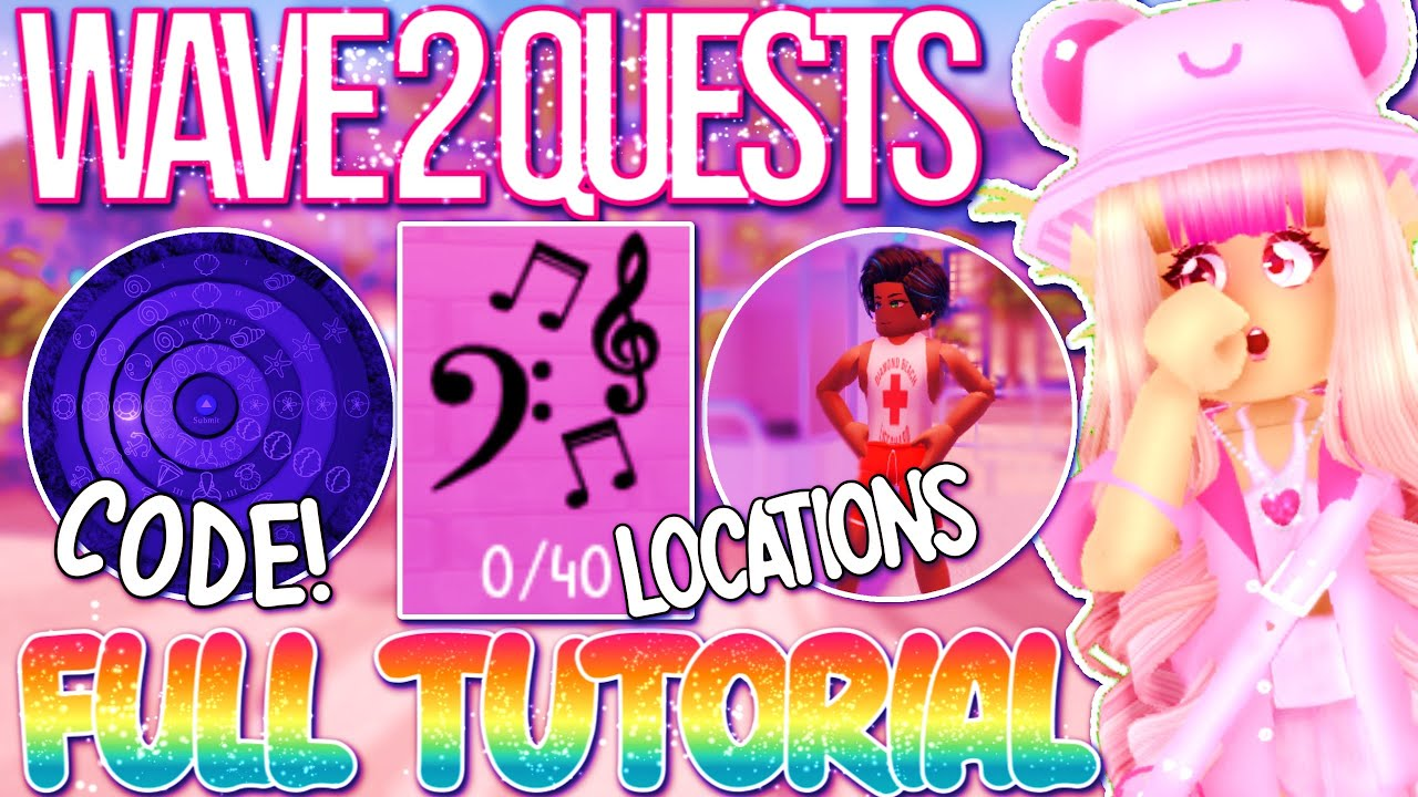 WAVE 2 QUEST UPDATE TUTORIAL! QUESTS EXPLAINED, LOCATIONS, & SECRET CODE! ROBLOX Royale High Update