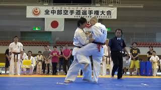 2019年9月1日、松本市総合体育館で開催された第27回全中部空手道選手権...