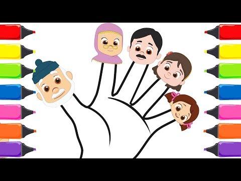 Niloya Cizgi Film Boyama Oyunu Niloya Parmak Ailesi Turkce Cocuk