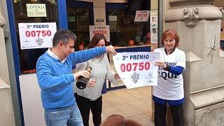 El 00.750, tercer premio en el Sorteo de Lotería de Navidad, deja un millón de euros en Zaragoz