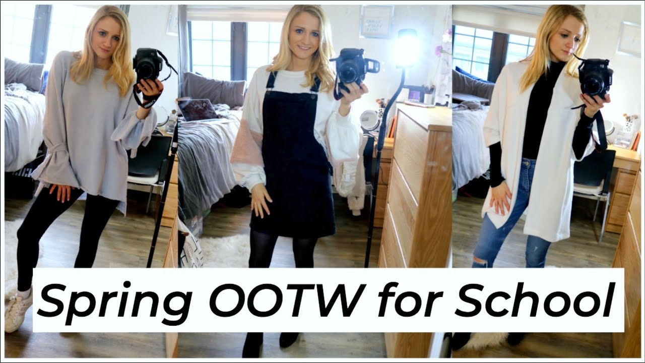 [VIDEO] - CUTE SPRING OUTFITS FOR SCHOOL | STYLE MY WEEK #7 | ALYSSA ROSE 1